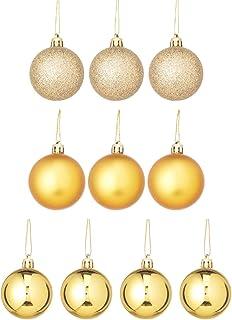Small Party Decorative Balls Set, 10 Pieces - Gold