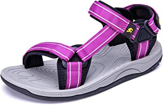 Water Sandal for Women Athletic Sport Sandal Hiking Sandal Walking Shoe Fashion Flat for Mother's Day Outdoor Beach River Boating