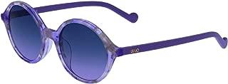 Liu Jo Round LJ3603S Plum Marble Girl's Sunglasses For, Purple 46 mm