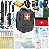 2021 Emergency Survival Kit and IFAK Medical Kit with Tactical Molle Pouch. Meets and Exceeds OHSA/ANSI First-Aid Requirements