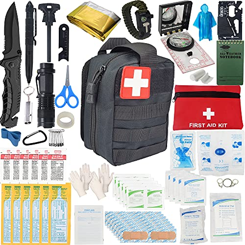 2021 Emergency Survival Kit and IFAK Medical Kit with Tactical Molle Pouch. Meets and Exceeds...