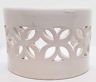 Plafoniera da Parete Traforata Ceramica Bianco Realizzato e Dipinto a mano Nina Palomba Made in Italy Dimensioni 23 x 15 x...