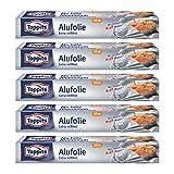 Toppits Alufolie Doppel-Kraft-Waben (10m x 29.5cm), 5er Pack (5 x 10 Meter) -