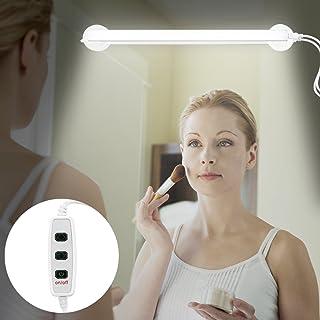 SOONHUA バーライト バー型 LEDライト USB 化粧ライト 3段階調光 360度回転 スイッチ付き ケーブルコントローラ 3Mテープ 吸盤付き 浴室/洗面/化粧鏡用 昼光色