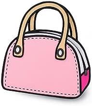 Xugq66 Canvas Cartoon Shoulder Messenger Bag 2D Drawing 3D Handbag
