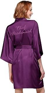Personalized Robe Silk Satin Wedding Bride Bridesmaid Gift Custom Monogrammed