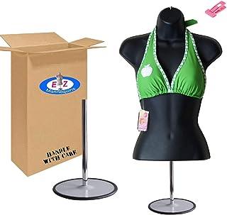 farawamu Female Mannequin Creative Plastic Half Body Female Mannequin Swimwear Underwear Display Rack