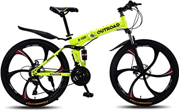 Max4out Mountain Bike 21 Speed 26 inch Shining SYS Double Disc Brake Suspension Fork Rear Suspension Anti-Slip Bikes