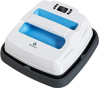 Tangkula Heat Press Machine, Portable Professional Heat Transfer, T-Shirt Press Printing Machine, Multi-Function Digital Temperature Control Heat Press, Home Heat Press Machine, 9 x 9 Inches (Blue)