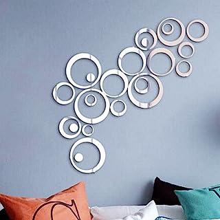 24Pcs Pegatinas Decorativas Pared Baño Espejos Adhesivos Acrílico Decoración Salón Hogar Oficina Tiendas Habitación