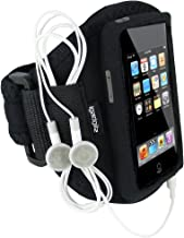 iGadgitz U0015 Water Resistant Neoprene Sports Gym Jogging Armband Compatible with iPod Touch 1st, 2nd, 3rd and New 4th Generation 8gb, 16gb, 32gb and 64gb - Black