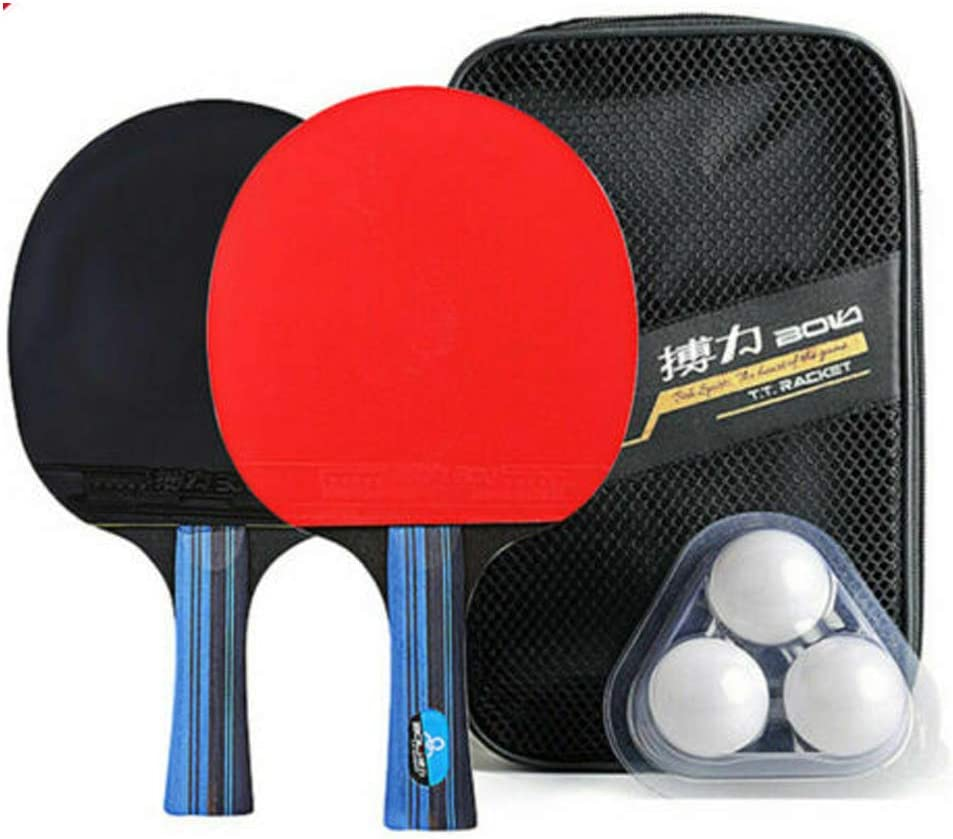 Popularity Max 66% OFF Inwinner Table Tennis Racket Set of Balls and Rubber 2 Replaceme