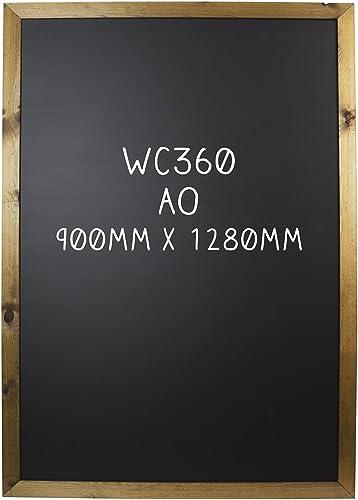 Chalkboards UK Ces marqueurs Standard Britannique encadrée Tableau Noir, Bois, Bois Dense, Noir, A0 (128 x 90 x 1.5cm)