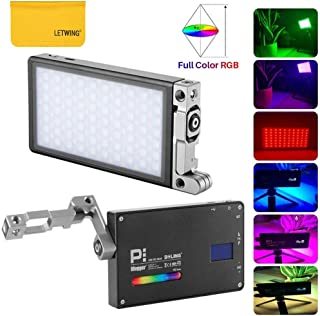 BOLING BL-P1 RGB LED Video Light Dimmable 2500K-8500K Adjustable 0-360° Full Color,Built-in Battery and Temperature Control Protection Suitable for Photography Lighting/Live Studio