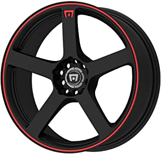 "Motegi Racing MR116 Matte Black Wheel With Red Racing Stripe (16x7""/4x100, 114.3mm, +40mm offset)"