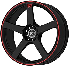 "Motegi Racing MR116 Matte Black Wheel With Red Racing Stripe (18x8""/5x112, 114.3mm, +45mm offset)"