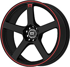 Motegi Racing MR116 Matte Black Wheel With Red Racing Stripe (15x6.5