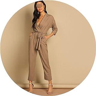 51ac9ed9e3ce The small cat Women 2019 Spring Korean High Waist Wrap Skinny Elegant  Jumpsuits