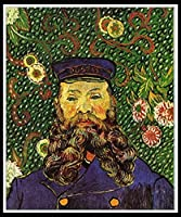 DIY 数字油絵 数字キット塗り絵 手塗り DIY絵 デジタル油絵 手芸 画材 手工芸 キット 芸術 工芸 DIY 手作り 装飾品 ホーム オフィス装飾 - Portrait of the Postman Joseph Roulin by Vincent Van Gogh