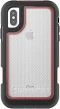 Griffin, iPhone X Rugged Case, Survivor Extreme with Rotating Belt Clip, 10 Ft Drop Protection, Slim Protective Case, Black/Red