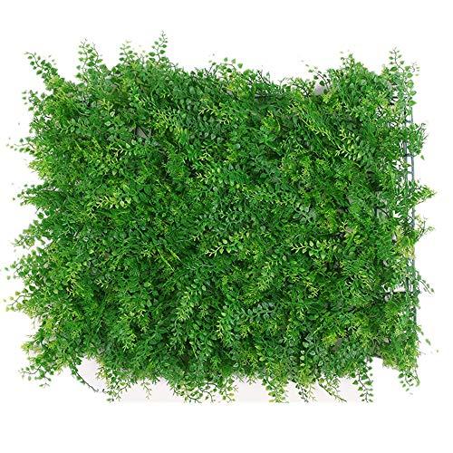 WanuigH-Home Wurzelnackte Grün Hedging Künstliche Buchsbaumhecke Mat Pflanzen Panels Privacy Screen UV-Schutz-Dekor 12 Stück Baum Pflanzen (Farbe : Grün, Größe : 60x40cm)