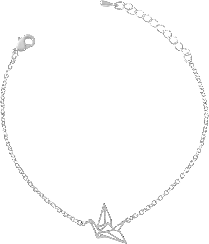 ONDAISY Animal Jewelry BFF Bridal Bridesmaid Gift Best Friend Wedding Party Brass Chain Charm Pendant Bracelet