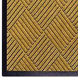 WaterHog Diamond | Commercial-Grade Entrance Mat with Rubber Border – Indoor/Outdoor, Quick Drying, Stain Resistant Door Mat (Yellow, 4' x 6')