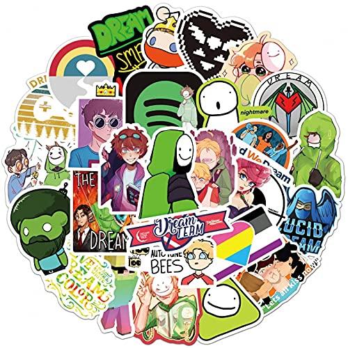ZZYOU 50 Uds Dream Cartoon Pegatinas de Graffiti a Prueba de Agua para monopatín refrigerador Ordenador portátil Juguetes para niños