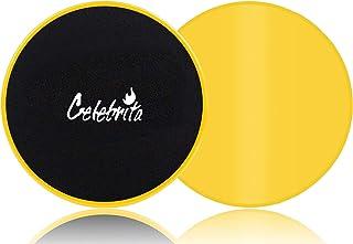 Celebrita Pair of Gliding Discs Core Sliders Ab, Back,...