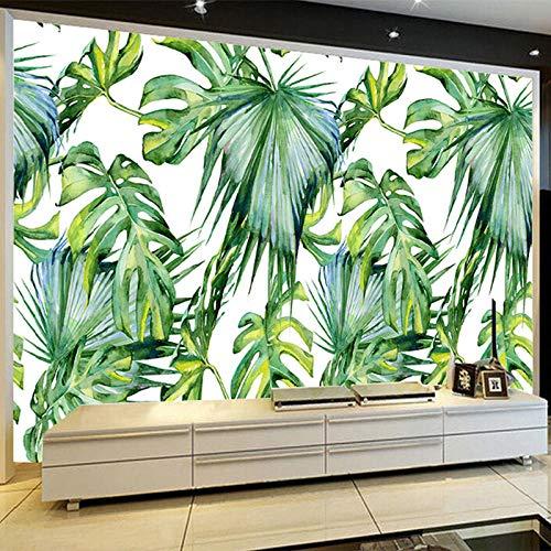 3D bosque tropical lluvioso verde fresco hoja de plátano foto papel tapiz restaurante clubes KTV decoración de murales creativos modernos-300x210cm