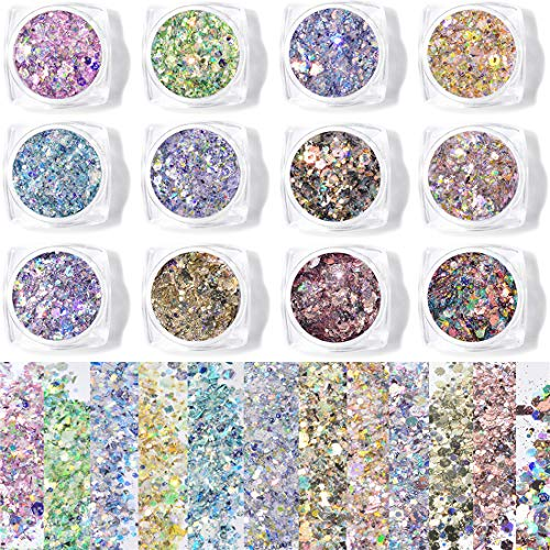 Holographic Glitter Set Nail Face E…