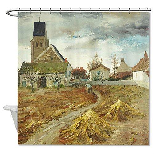 rioengnakg Landschaft Life Wasserdicht Polyester Duschvorhang, #10, 66