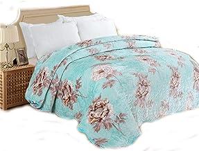 3Pcs Set Flannel Velvet Comforter Bedspread, Stuffing Cotton Solid Blanket Quilt, Thicken Warm Super Soft Suede Coverlet Q...