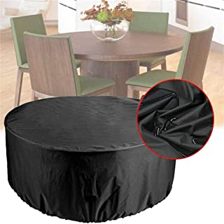 Outdoor Garden Round Furniture Cover, Dustproof, Waterproof, Windproof and UV Resistant Large Round Table Cover, Outdoor R...