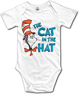 Baby Onesie Dr Seuss The Ca in The Hat Funny Baby Jumpsuit