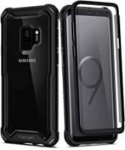 Spigen Hybrid 360 Designed for Samsung Galaxy S9 Case (2018) Glass Screen Protector Included - Black