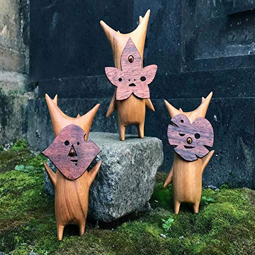 Korogu Family, Wooden Korogu/Korok Statue - Zelda Breath Of The Wild, Puppet Toy Handicraft Decoration, For Cartoon Figure Decorative Toy (D)