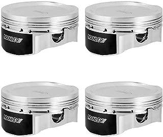 Manley 632400CE-4 Piston Kit Set (04+ Subaru WRX/STi (EJ257) 83mm Stroker 99.5mm STD Size Bore 8.5:1 Dish Platinum)
