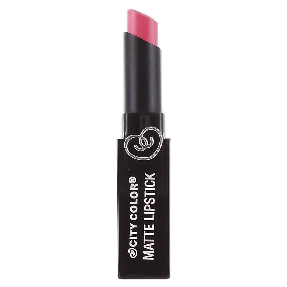 夜明けレパートリードリルCITY COLOR Matte Lipstick L0050A - Cherry Blossom (並行輸入品)