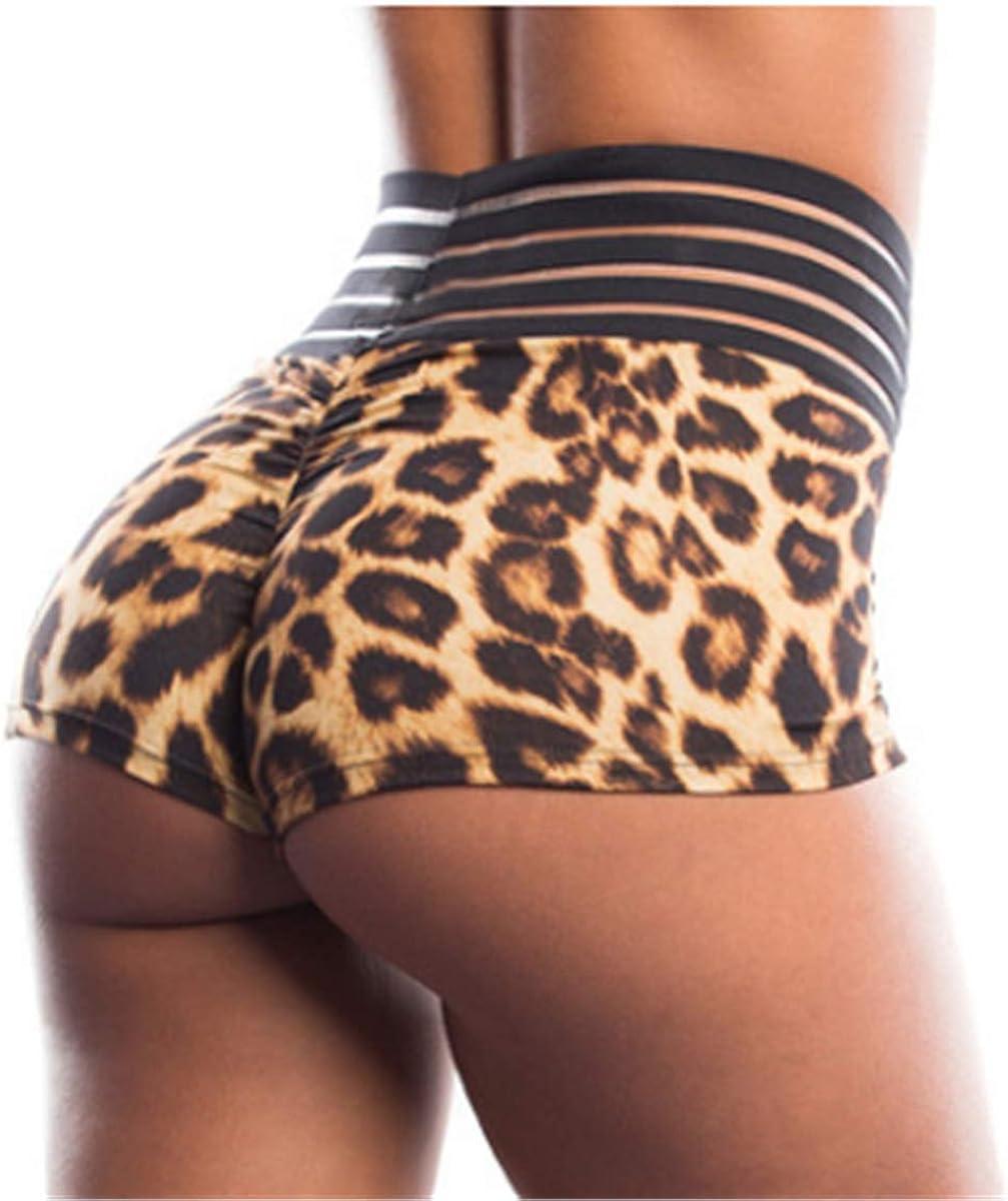 Summer Womens Ladies Elastic Silk Shorts Yoga Gym Fitness Booty Butt Lift Pants