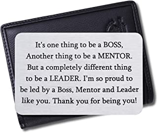 Boss Christmas Appreciation Gifts Wallet Card for Mentor Leader Thank You Note Leaving Going Away Gifts Supervisor Retirem...