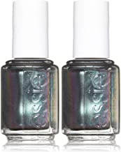 essie nail polish, for the twill of it, green metallic nail polish, 0.46 fl. oz, 2 count