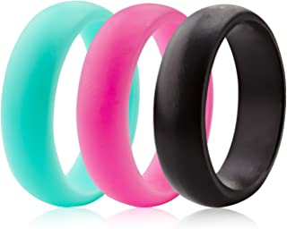 ThunderFit Silicone Rings Wedding Bands for Women - Width 5.6mm - Thickness 2mm