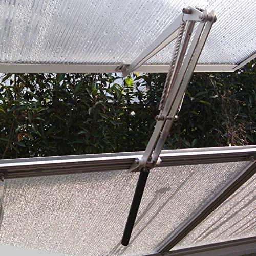 Abridor de ventanas para invernadero, apertura automática de ventanas, elevalunas mediante control de temperatura y apertura automática solar.