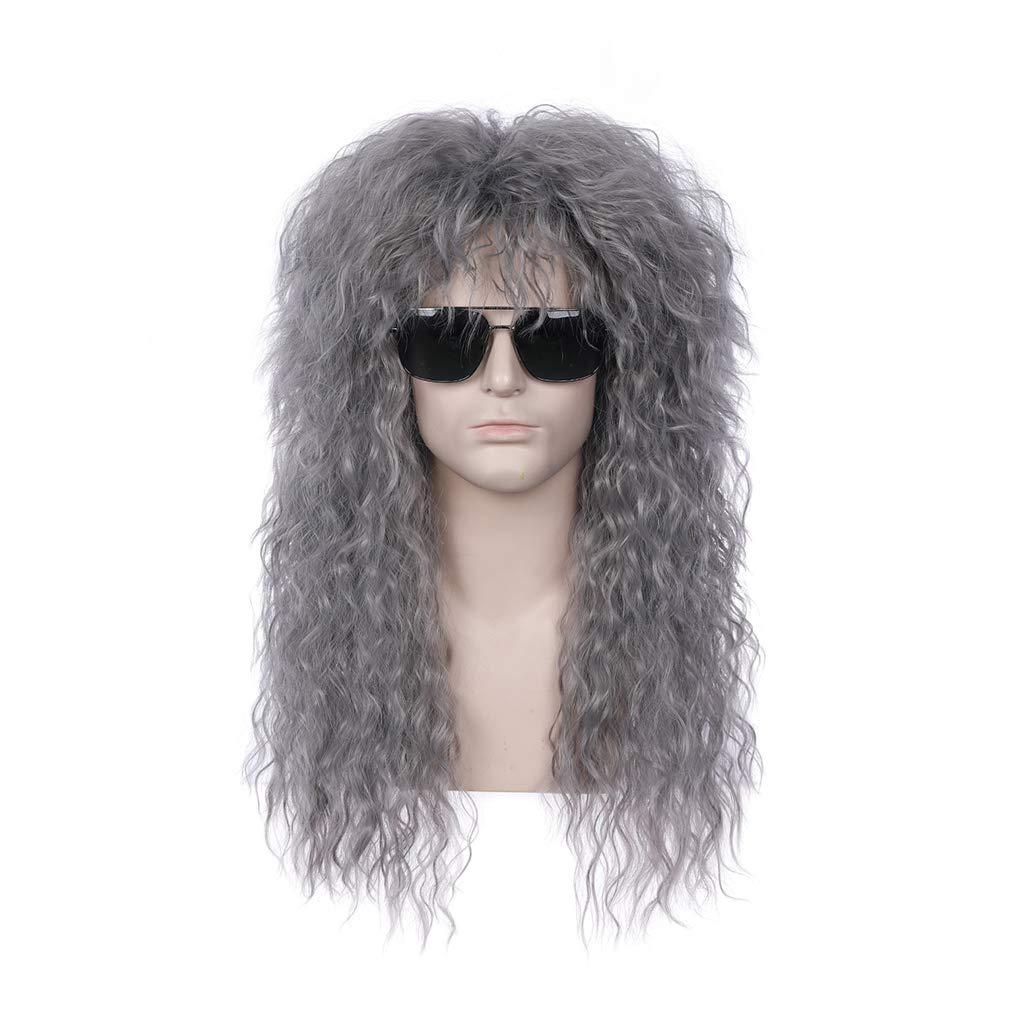 BERON 2021new shipping free 70s 80s Mens Rocking Dude Punk Metal Max 73% OFF Disc Rocker Wig Heavy
