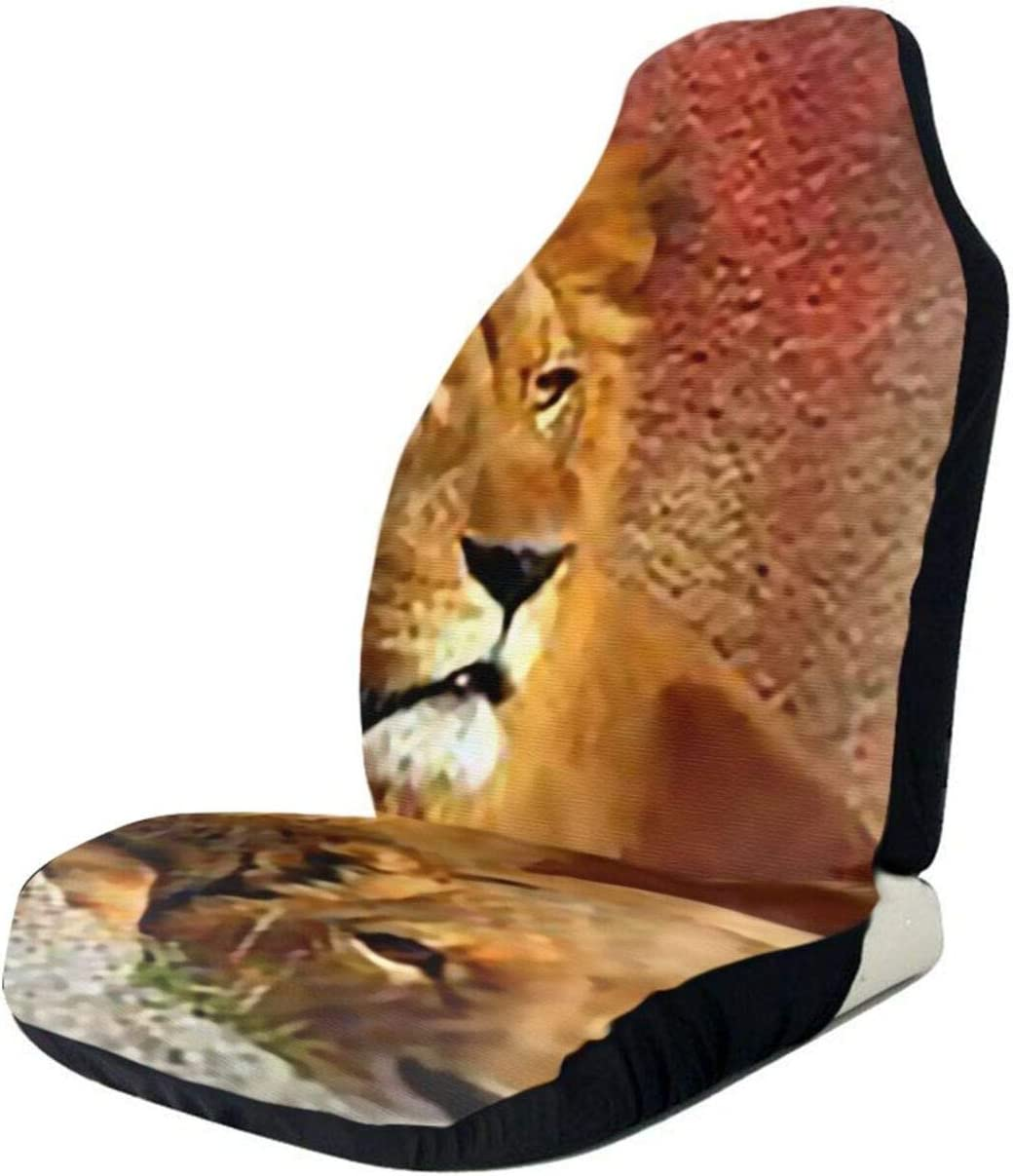 African Lions Couple Grunge Car Seat Only Cover Full Front Max Max 63% OFF 72% OFF Seats