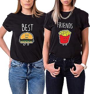 Best Friends Damen T-Shirt für 2 BFF Burger und Pommes Best