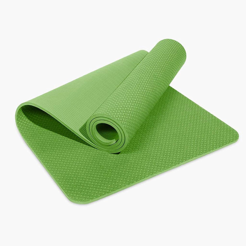 ASJHK Yoga-Matte TPE Yoga-Matte Verdickung Erweiterung Lange Anfnger Mnner und Frauen Sport Matte Fitness-Matte Rutschfeste Yoga-Matte Yogamatte (Farbe   A, gre   8mm)