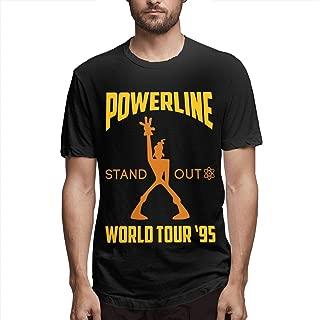 DAHWY Powerline Concert Tee Fashion Mens T-Shirt