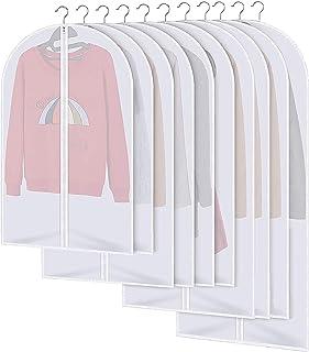 MOOING Housses de Vêtements, Anti Poussière Etanche Mite Humidité,Housses de Protection Zip Transparentes Pliable pour Che...